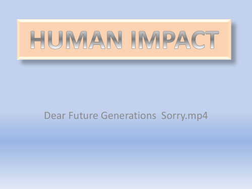 Climat Change human impact