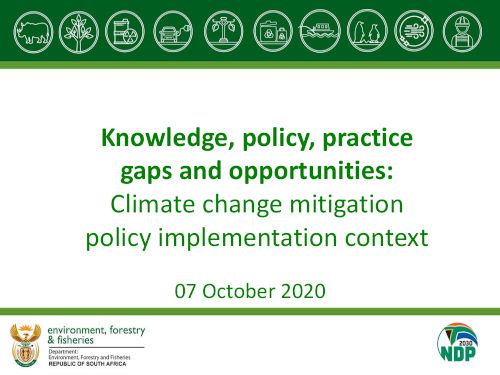 Climate change mitigation policy practice and knowledge implications